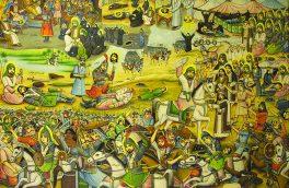 «پرده خیالینگاری عاشورا»  آویخته بر دیوار موزه هنرهای معاصر