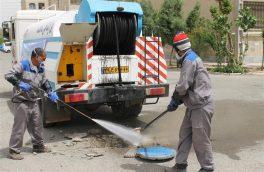 شستشوی خطوط و شبکه های فاضلاب در شهرستان اسلامشهر