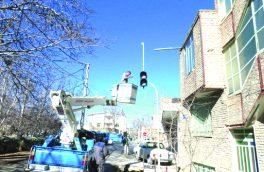 نصب چراغ چشمک زن در چهارراه چهارباغ – پایتخت خوانسار