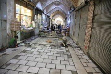 عملیات کف سازی و ساماندهی بازار تاریخی تبریز با سرعت قابل توجهی پیش می رود
