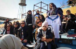 مشهور ترین تماشاگر فوتبال هفته: مهناز افشار