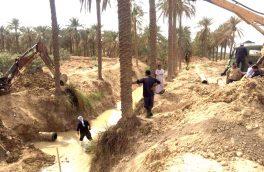 کارگزاری ۲ کیلومتر خط انتقال آب شرب روستایی در شهرستان اهواز