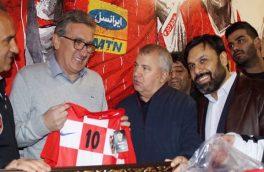 برانکو لباس تیم ملی کرواسی را به پروین هدیه داد