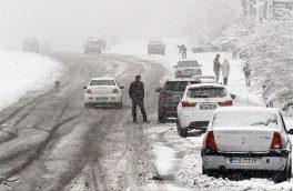 برف و باران جادههای اصفهان را دربر گرفت
