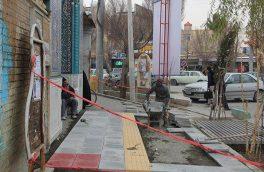ادامه اجرای عملیات پیاده رو سازی و ساماندهی معابر در سطح شهر فلاورجان/ تصاویر
