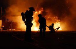 مهار آتش سوزی در یکی از مدارس خرمشهر