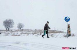 برف، برق روستاهای الیگودرز را قطع کرد