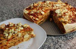 پیتزا با نان ترتیلا؛ پر ملات و خوش طعم