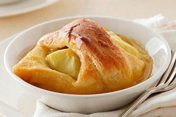 پودینگ سیب با سس پرتقال؛ ترکیب خوشمزه طعم ها