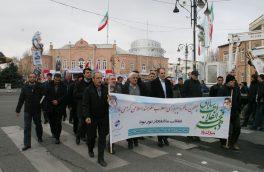 حضور پرشور کارکنان مخابرات منطقه آذربایجان غربی در راهپیمایی روز ۲۲ بهمن ماه