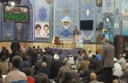 در آستانه چهلمین سال پیروزی انقلاب اسلامی ایران مدیر آبفا منطقه نجف آباد پیش از خطبه های نماز جمعه این شهر سخنرانی کردند
