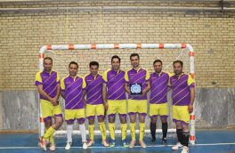 نایب قهرمانی امور برق شهرستان چادگان در فوتسال جام ادارات