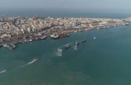 صدای بوق کشتی ها در بندر بوشهر طنین انداز شد + تصاویر
