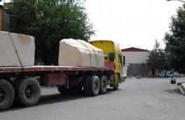 تردد تریلرهای حامل سنگ در خورو بیابانک ممنوع شد