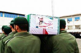 مراسم تشییع پیکر مطهر شهید جوینده در رشت برگزار شد