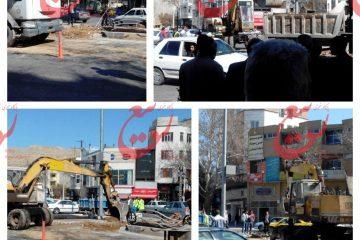 اخلال در عبور و مرور شهروندان با نمایش کامیون های شهرداری در شاهرود!