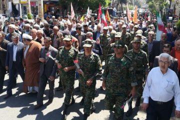 راهپیمایی منتظران ظهور در ورامین برگزار شد+تصاویر