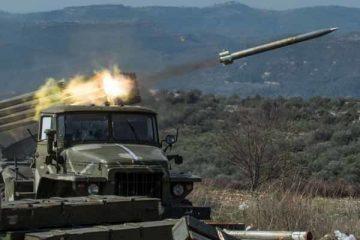 حمله موشکی ارتش سوریه به مواضع تروریستها در حومه ادلب