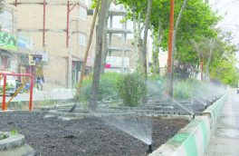 بهره برداری از طرح سیستم ترکیبی آبیاری در بلوار بسیج شهر فلاورجان