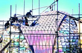 ساخت پروژهی منحصر به فرد دانشجوئی پاویون (کوشک) در دانشگاه آزاد نجف آباد
