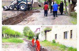 اصلاح جوی آب در شهرک ولیعصر (عج) نطنز