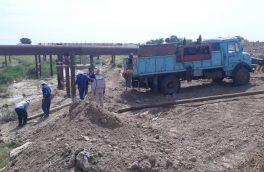 ایمن سازی دو خط لوله ۲۶ اینچ نفت در مقطع رودخانه کوپال
