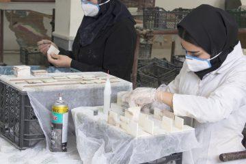 اجرای طرح اشتغال زای تولید مصنوعات سنگی در مرکز علویجه و مشارکت بخش غیردولتی