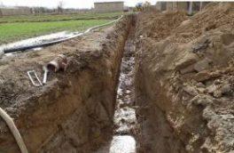 ۲۰۰ متر توسعه شبکه توزیع آب در گلپایگان
