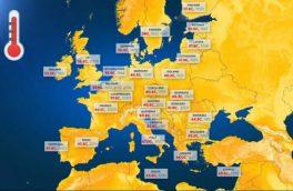 بالاترین دمای ثبت شده در اروپا چقدر است؟