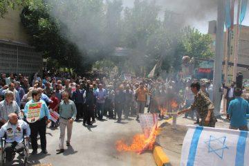 شهردار، رییس و اعضای شورای اسلامی شهر و  پرسنل شهرداری فلاورجان در راهپیمایی روز قدس شرکت کردند