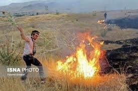 ۵ هکتار از مراتع شهرستان نطنز در آتش سوخت