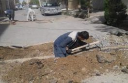تامین فشار آب خیابان ۱۶ غربی یزدانشهر نجف آباد با اصلاح ۶۰ رشته انتشعاب آب انجام شد