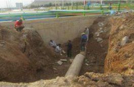 حادثه شکستگی خط انتقال آب ۶۰۰ میلی متری شرق شهر نجف آباد مهار گردید