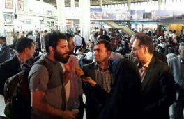 بازدید معاون حمل و نقل سازمان راهداری و حمل و نقل جاده ای و هیات همراه از پایانه مسافربری جنوب استان تهران