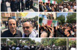 حضور مدیر مخابرات منطقه اصفهان در مراسم تشییع شهدا