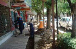 پایان عملیات اصلاح شبکه آب در خیابان طالقانی جنوبی شهر تیران
