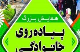 همایش بزرگ پیادهروی خانوادگی در شهر سیلزده پلدختر