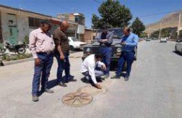 بازدید کارشناس HSE از محل وقوع حادثه خیابان مدنی منطقه فریدونشهر