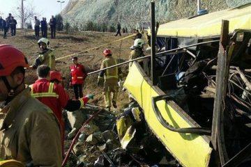 ۲۲ کشته و زخمی در حادثه رانندگی محور بویینمیاندشت – خوانسار