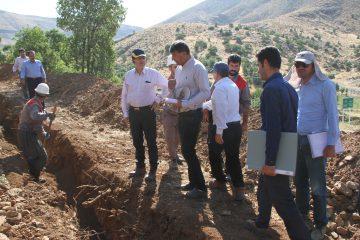 بازدید مدیرعامل شرکت گاز استان کردستان از پروژههای گازرسانی به روستاهای شهرستان بانه