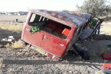 واژگونی مینیبوس در جاده تیران- داران ۱۸ مصدوم برجاگذاشت