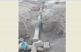 لوله گذاری آب مسکن مهرشهرستان نایین