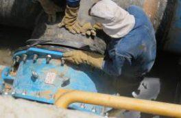 اتصال خط رفت منبع ذخیره ۲۰۰۰۰ مسکن مهر فولادشهر به ایستگاه پمپاژ