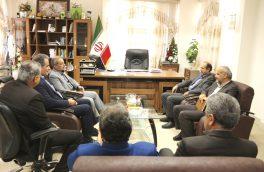 دیدار صمیمانه مدیرعامل گازگلستان با فرماندارکلاله