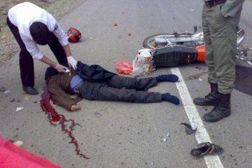 تصادف مرگبار وانت پیکان و موتورسیکلت در تهران
