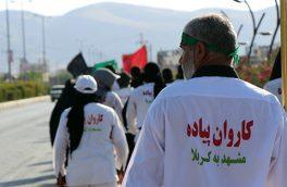 ورود کاروان پیاده انصار الحسین به ایذه با استقبال مردم