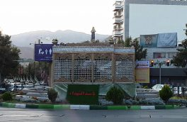 نصب المان های ویژه ماه محرم در سطح شهر شاهرود