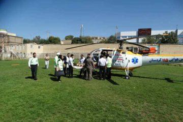 اعزام هوایی مادر دیواندرهای به مرکز استان کردستان