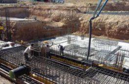 عملیات بتن ریزی تصفیه خانه آب منطقه خوانسار