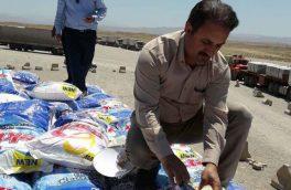 بیش از ۷ تن برنج قاچاق توسط ماموران گمرک خسروی کشف شد